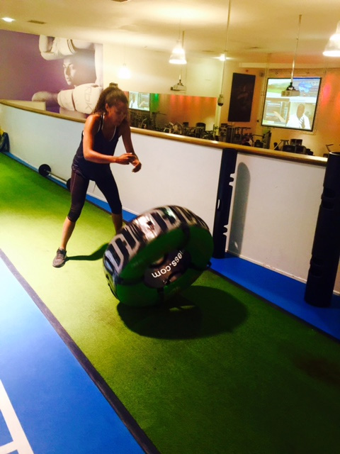 Maisie Richardson-Sellers working out